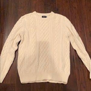 J crew factory cable sweater medium MENS